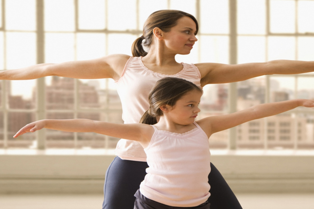 Exercising: The key to a fit motherhood.