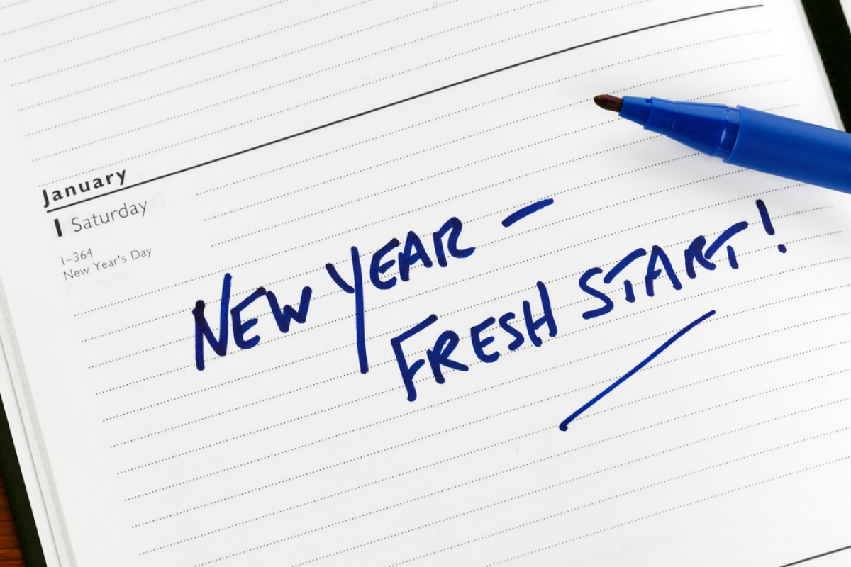 New Year's Resolutions cannot start with the old you!